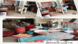 decorate with me vintage kitchen decor pioneer woman youtube