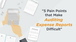 Expense Report Procedures by 5 Pain Points That Make Auditing Expense Reports Difficult The