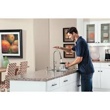 moen 87350esrs haysfield pull down kitchen faucet motionsense in