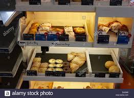 cuisine de r ence cuisine de pastries on display in a filling station stock