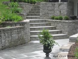 walk out basements landscaped walkout patio pinterest