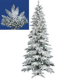 7 5 pre lit snow flocked layered utica slim tree clear led lights com