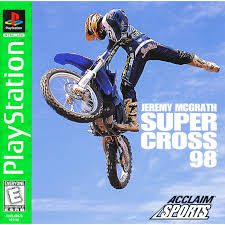 freestyle motocross game jeremy mcgrath supercross u002798 ps1 retro game fan video game
