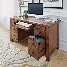Computer Desk Styles Amazon Com Home Style 5180 18 Arts And Crafts Double Pedestal