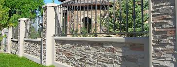 iron accents stonetree concrete fence wall systems