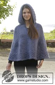 drops design poncho november drops 158 32 free knitting patterns by drops design