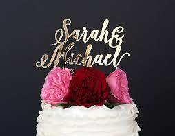 custom cake topper custom names wedding cake topper crafty pie press