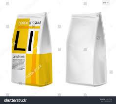 foil paper food bag package coffee stock vector 443571568