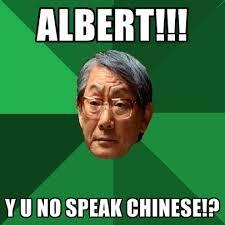 Albert Meme - albert y u no speak chinese create meme