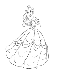 free printable belle coloring pages for kids with belle coloring