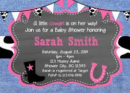 baby shower invitations western shower invite printable