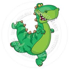 cartoon t rex dinosaur by polkan toon vectors eps 14334