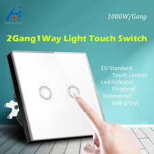 touch screen wall light switch huangxing crystal glass touch screen wall light switch eu standard