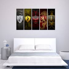art abstract paintings 5 panel game of thrones logo poster contemporary art abstract paintings 5 panel game of thrones logo poster artworks custom prints home decor canvas mural wall art