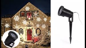 Led Snowflake Lights Outdoor by Snowflake Laser Christmas Lights Outdoor Led Lighting For Holiday