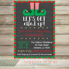 let u0027s get elfed up christmas party invitation holiday