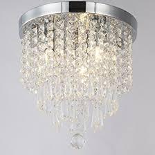 Crystal Flush Mount Ceiling Light Fixture by Zeefo Crystal Chandeliers Modern Pendant Flush Mount Ceiling