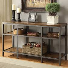 Sofa Table Furniture Of America Payton Industrial Tiered Sofa Table