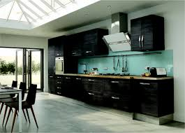fascinating modern kitchen design ideas with black wood cabinet fascinating modern kitchen design ideas with black wood cabinet and brown countertop also light blue backsplash cook top wit