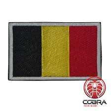 Belgian Flag Military Patch Belgian Flag With Velcro Airsoft Military