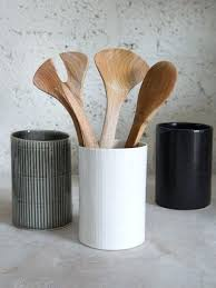 kitchen utensil canister ceramic kitchen utensil holder sencedergisi com
