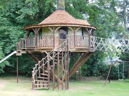 small kids tree house in the woods diy idea for kids playground