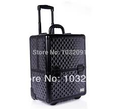 professional makeup artist bag cosmetic bags diamond pattern texture 8 extending trays