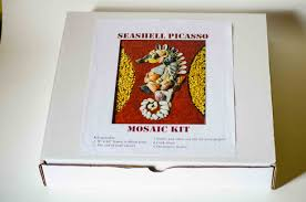 fun art and learning activity for kids seashell picasso mosaic