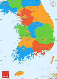 Political Map Of East Asia by Political Simple Map Of South Korea
