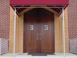 red front double doors for decoration doors with wooden front door