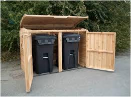 37 garbage outdoor storage deara trash can storage shed diy