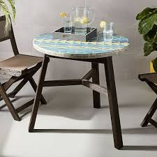 Next Bistro Table Mosaic Tiled Bistro Table Multi Triangle West Elm