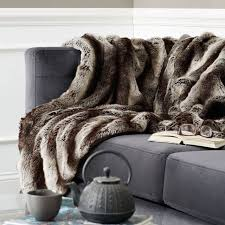 Throws For Sofa by Faux Fur Throw Blanket Home Decor