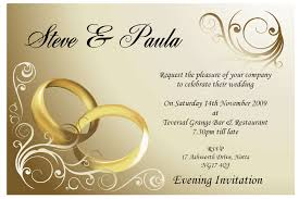 Invitation Cards To Print Cheap Print Wedding Card Invitations Couple Ring Golden Typography