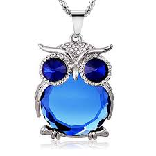 crystal owl pendant necklace images Owl love you quot necklace cute animals club jpg