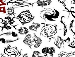 tribal cool pisces tattoo design photos pictures and sketches