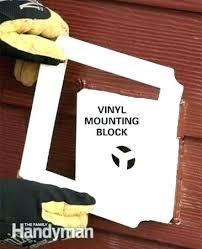 vinyl siding light mount siding light block outdoor lighting mounting blocks light