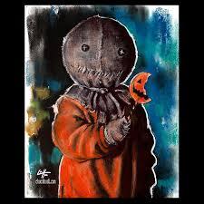 print 8x10 sam trick r treat horror dark art