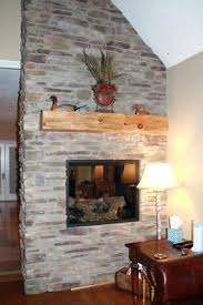 stone front electric fireplace ideas cultured pictures clean stone