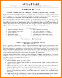 Personal Trainer Duties Resume Personal Profile Resume Resume For Your Job Application