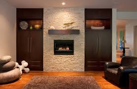 fancy white textured fireplace ideas between delectable brown
