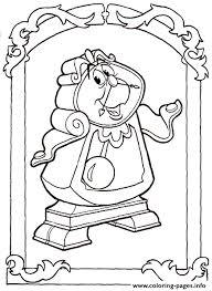 clock disney princess 117d coloring pages printable