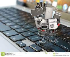 e commerce or online shopping concept home appliance in shoppin