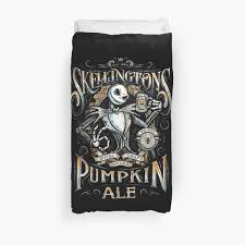 nightmare before skellingtons pumpkin ale duvet