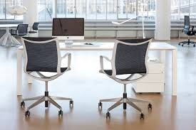 contemporary office chair on casters with armrests star base