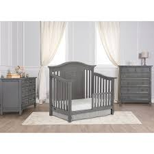 Davenport Nursery Furniture by Amazon Com Evolur Fairbanks 5 In 1 Convertible Crib Storm Grey