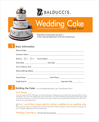 wedding cake order sle cake order form 10 free documents in word pdf