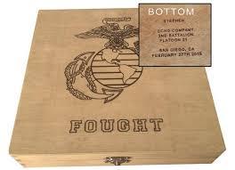 Personalized Keepsake Marine Corps Personalized Keepsake Box Usmc Boot Camp