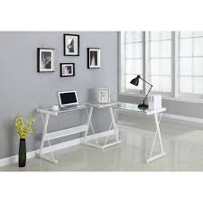Small Metal Computer Desk Retro Metal Desk Metal Computer Stand White Glass Computer Desk