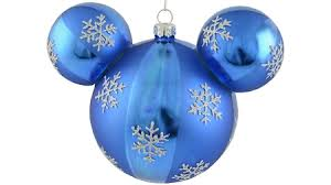 ornament mickey mouse ears snowflakes